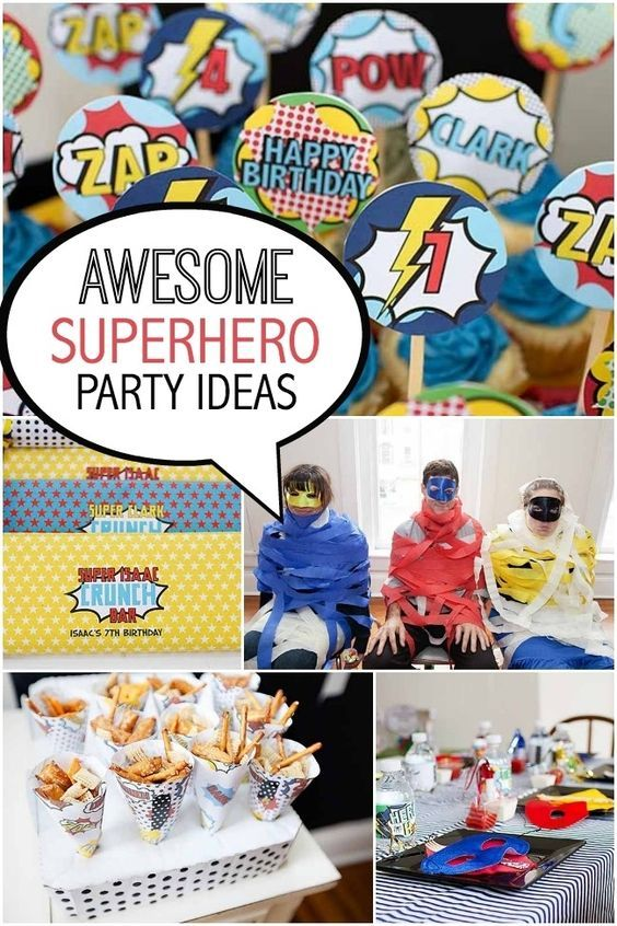 Awesome Super Hero Birthday Party Ideas For Boys
