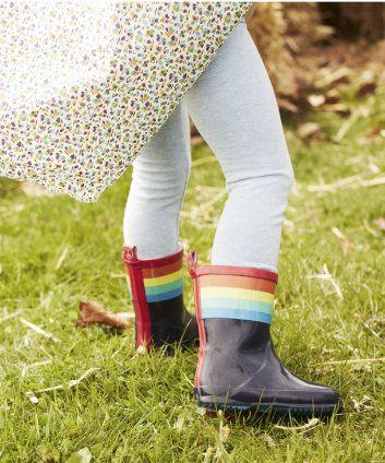 Little Bird by Jools Rainbow Stripe Wellies. Spring/Summer 2014. #ChildrensFashion #Kids #Wellies