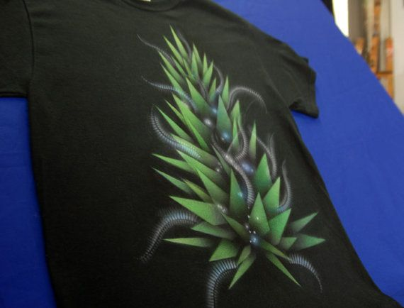 Bud_5 abstract geometry hand-painted  t-shirt by NikoxiL on Etsy