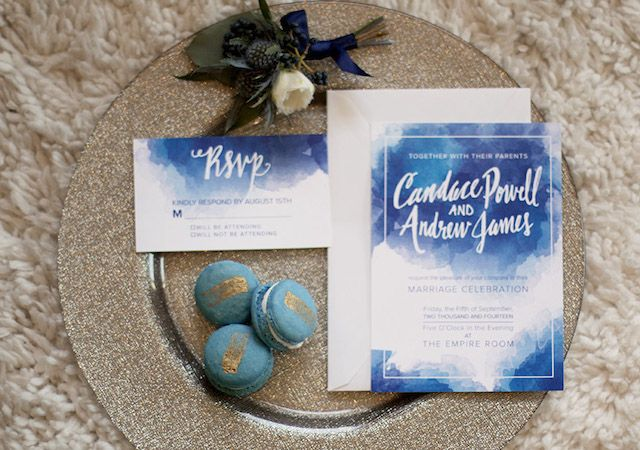 Brunch wedding invitations | Katie Jane Photography | see more on: http://burnettsboards.com/2014/11/brunch-wedding-mimosa-bar-crepe-cake/