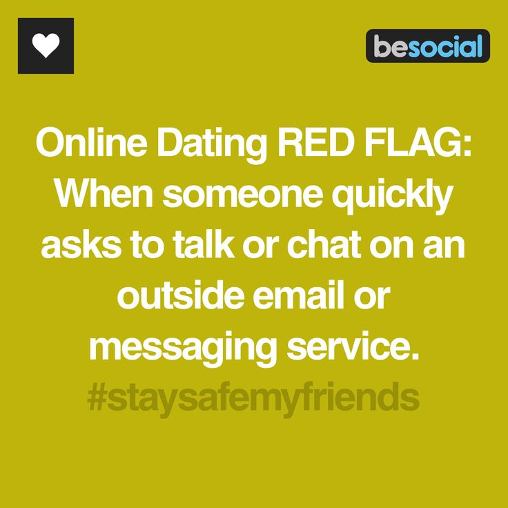 The top 14 online dating red flags