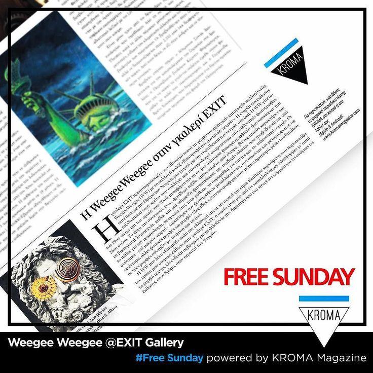 KROMA Magazine &  @weegeeweegee @ Free Sunday (27/11/16 page:39) Return of the Living Dead @EXIT Gallery #freesunday #kromamagazine #pikatablet #artmagazine #artexhibition #weegeeweegee #pin