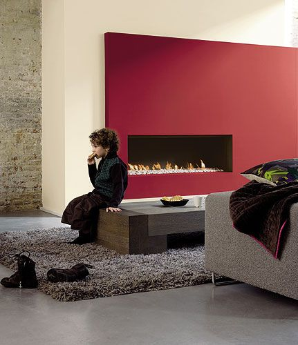 Feature Walls in Living Rooms | Feature wall : A striking wall turns an ordinary room into an ...