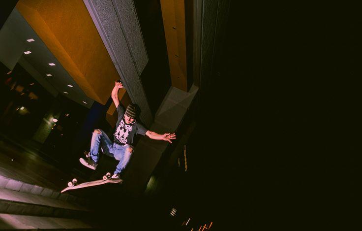 Skateboarding en mi ciudad.   ''Jump''
