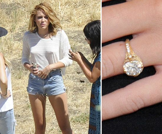 The Most Beautiful Celebrity Engagement Rings of 2012: Miley Cyrus received a custom Neil Lane creation from fiancé Liam Hemsworth in June. Liam and Neil created a special band featuring a 3.5-carat diamond ring in an 18-karat gold setting.
