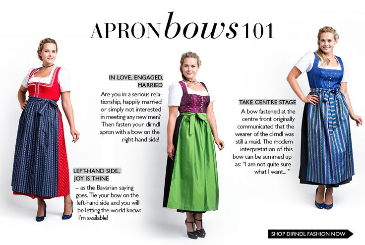 Have you ever wondered what the placement of your dirndl bow reveals? Find out the meanings in our latest magazine. Read now: http://www.navabi.co.uk/magazine/dirndls_and_trendy_oktoberfest_looks-177-0.html #navabi