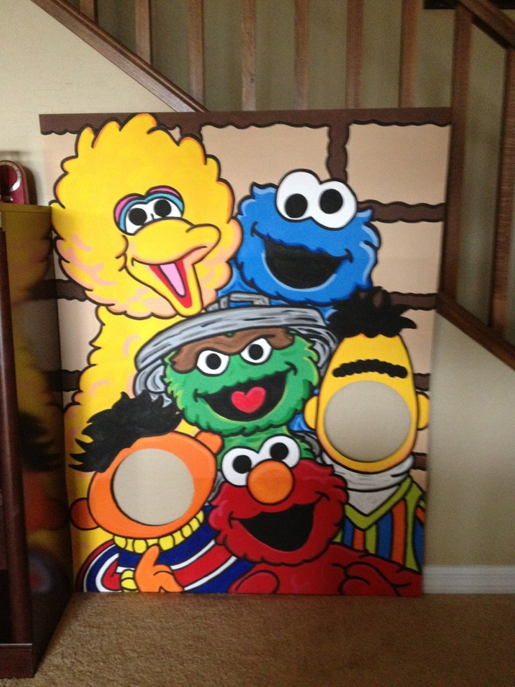 Lets Be Bert and Ernie Sesame Street Character Photo Party Cut-Out Prop Standee. $130.00, via Etsy.