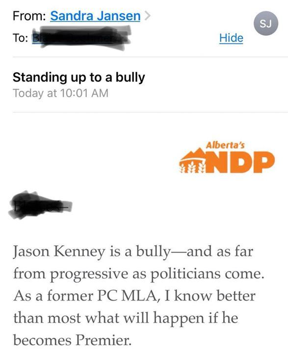 Translation: Myself and my NDP colleagues know we cant run on our track record of large tax hikes and some of the highest unemployment in Canada so all we've got left are ad hominem attacks. #ABLeg #ABPoli