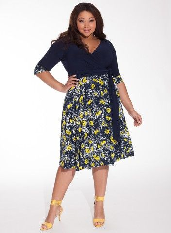Bellissima Dress in Navy/Daffodil