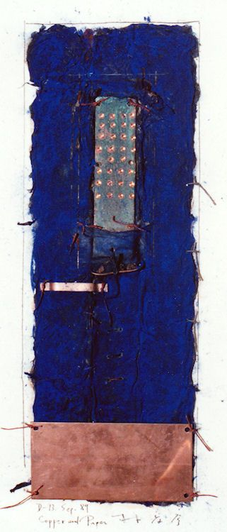 D-13.Aug.1989collage/copper and paper making 林孝彦 HAYASHI Takahiko