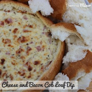 Cheese and Bacon Cob Loaf Dip – The Road to Loving My Thermo Mixer