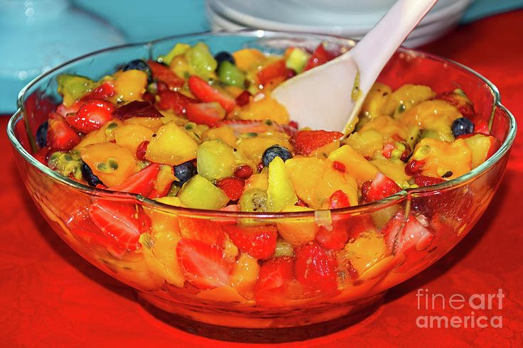 #Tropical #Fruit_Salad by #Kaye_Menner #Photography Quality Prints Cards Products at: http://kaye-menner.pixels.com/featured/tropical-fruit-salad-by-kaye-menner-kaye-menner.html