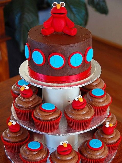 Birthday Cake Ideas For Kids Elmo Tower Cake