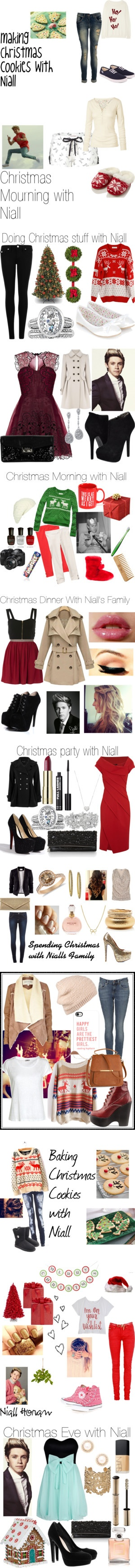 """""""Christmas with my little snowflake, Niall Horan"""" by theprincessofla ❤ liked on Polyvore"""