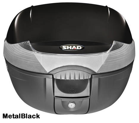"Shad SH-33 motorcycle top case in metal black. Designed to attach to most flat luggage racks. Its dimensions are: 16.5"" L x 16.9"" W x 12.2"" H  and has a 33 liter capacity. Your price is $134.95. With Free Shipping."