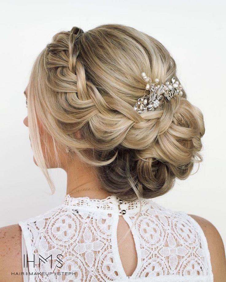 Beautiful braided updo hairstyles, upstyles, elegant updo ,chignon ,bridal updo …