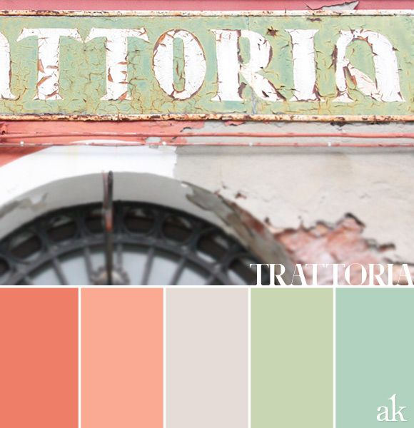 a trattoria-inspired color palette