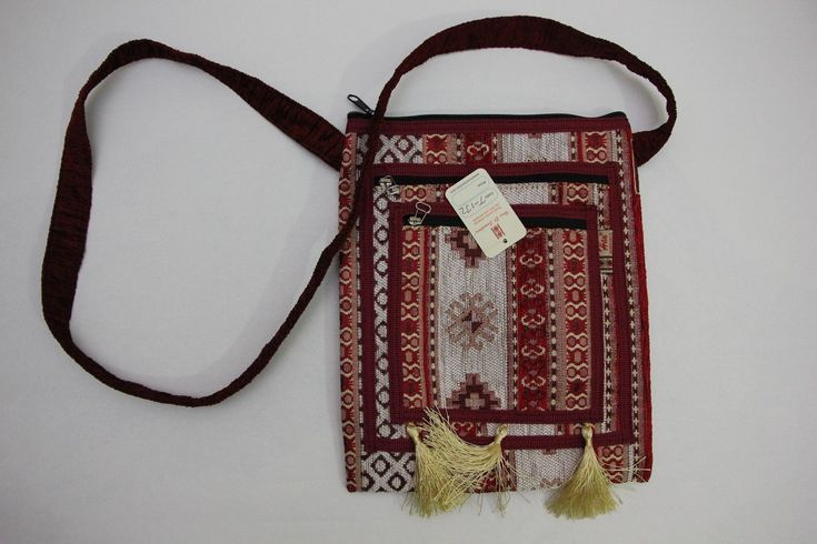 "Turkish Handbag Gobelin Fabric Made Purse 9.5""X9.5"" (001)"