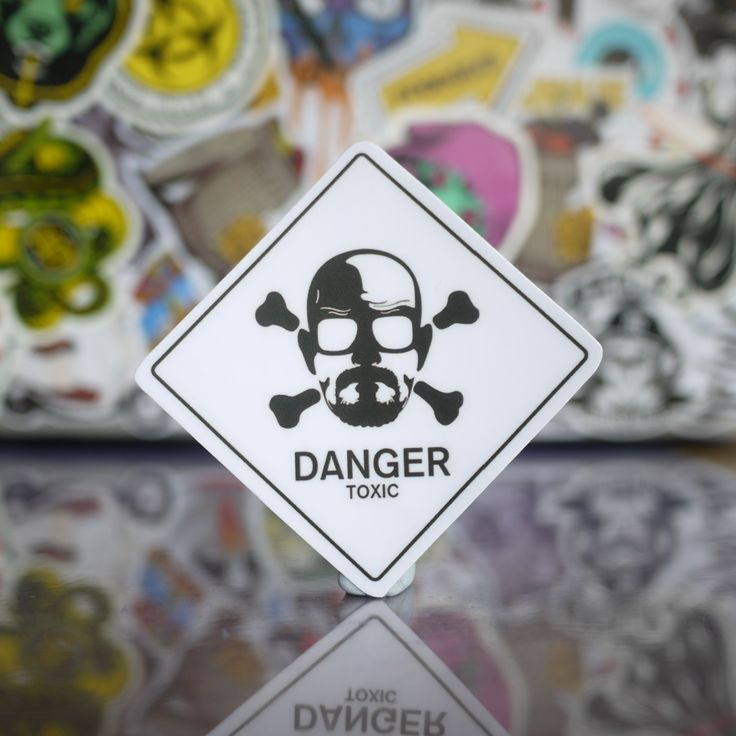 Breaking bad walter white danger sign sticker