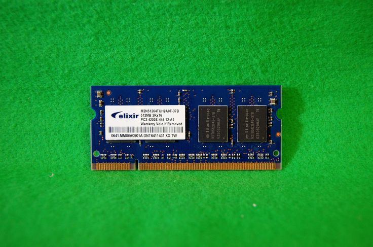 Notebook RAM DDR2 Elixir M2N51264TUH8A0F-37B 512MB DIMM PC4200 533MHz 200p