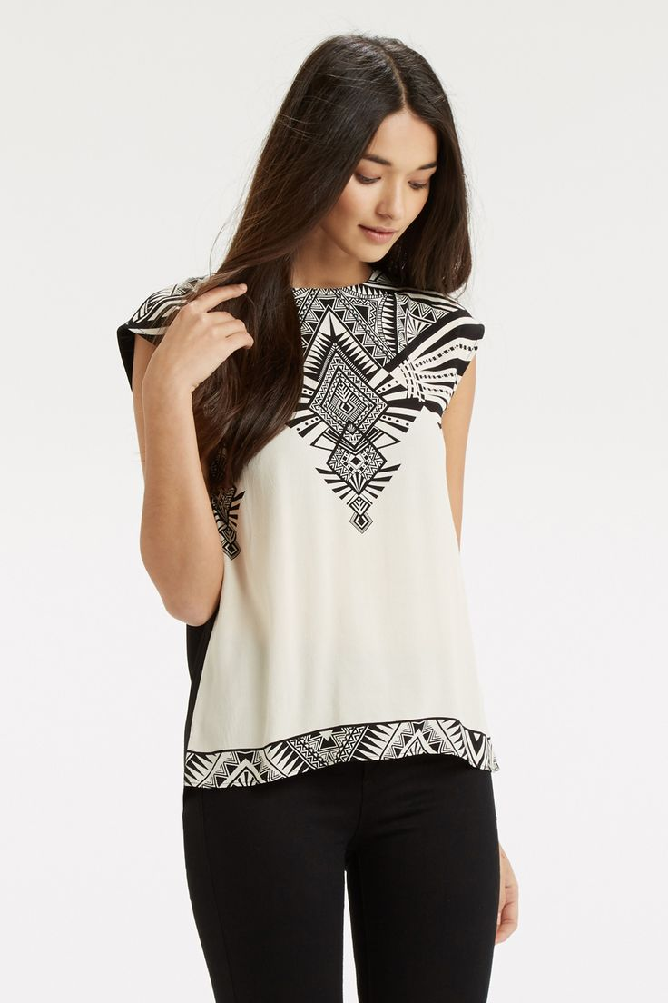 Deco Wrap Back T-Shirt. Was £35, NOW £18 - http://www.oasis-stores.com///oasis/fcp-product/5706968