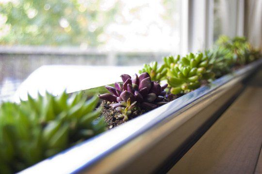 Using an aluminum gutter mounted to the inside of the window sill with sheet metal screws (sealing the holes with silicon culk),