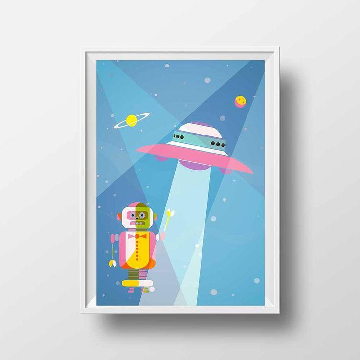 9 best Space Illustration Space rocket Space Ship Robot images on ...