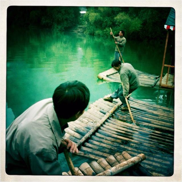 Row row your boats. Yangshuo, Guilin, China.