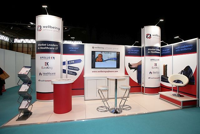 HSS/ Wellbeing stand we built at #EHILive show on the 4th November.