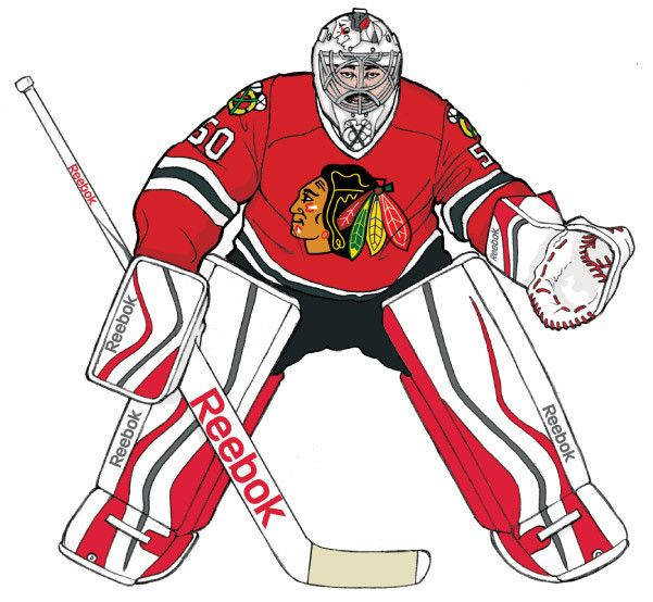 Hockey goalies' gear through the ages  In the early days of hockey, the equipment worn by goaltenders was primitive and offered far less protection than the state-of-the-art gear worn by today's guardians of the crease. Leather pads that soaked up water and got heavier as games went on have been replaced by pads made from lightweight,...  http://www.chicagotribune.com/sports/hockey/blackhawks/ct-hockey-goalies-gear-through-the-ages-20150614-htmlstory.html