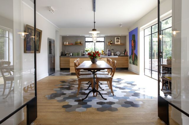 Cement tiles - Project Sebas Berger - kitchen - Diningroom