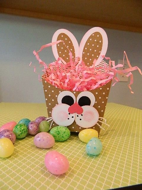 Bunny Punch Art meets the Fry Box. Stampin' UP! products used. Happy Crafting!~ Dee