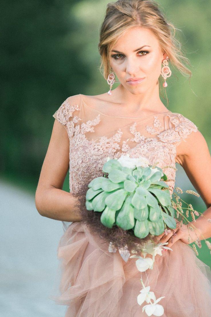 biżuteria ślubna, bukiet ślubny, zielony bukiet ślubny