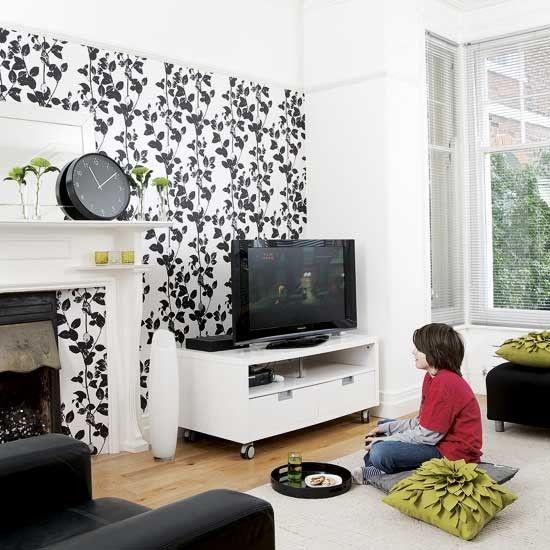 Black And White Living Room Interior Design