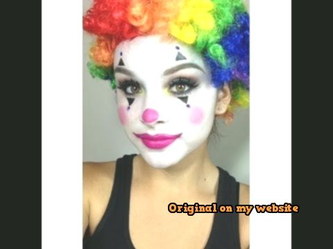 clown schminke frau lustiger clown kost m selber machen. Black Bedroom Furniture Sets. Home Design Ideas
