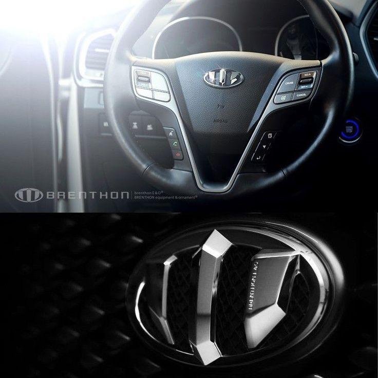 BRENTHON Horn Cap Front & Rear New Emblems 3 pcs for Hyundai Santa Fe DM & XL #BRENTHON