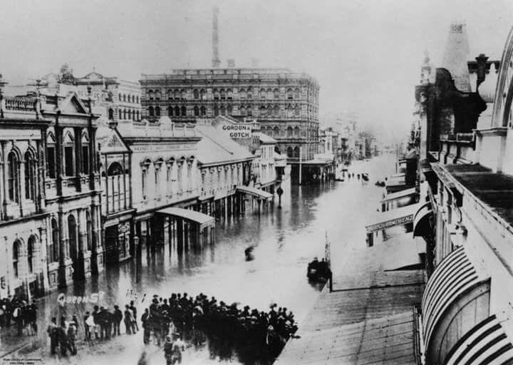 Queens St,Brisbane floods of 1898.A♥W