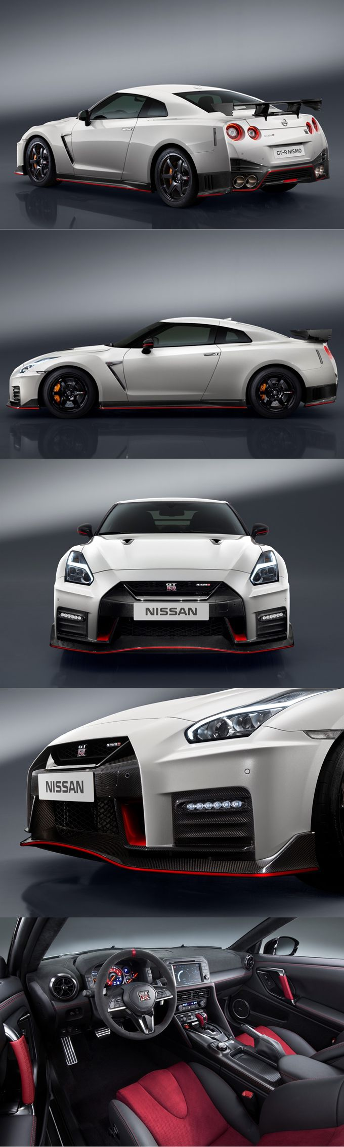 2016 Nissan GT-R Nismo / 600hp 3.8l V6 / Japan / red white / 17-385