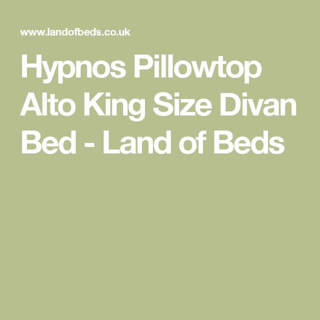 Hypnos Pillowtop Alto King Size Divan Bed - Land of Beds