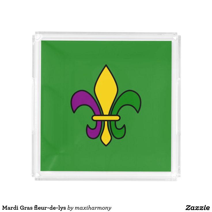 Mardi Gras fleur-de-lys Square Serving Trays