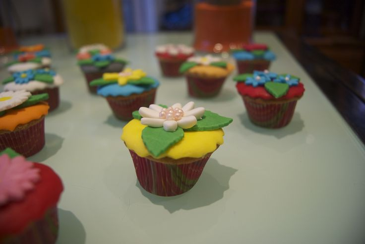 Garden mini cupcakes