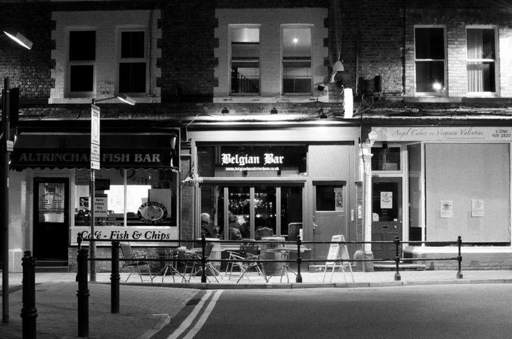 Belgium Bar Altrincham / Trafford / Manchester / Noir / Beer / European / Bar / Street / Night Life by MartynHeathPhoto on Etsy