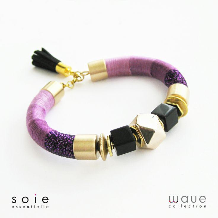 Radiant orchid bracelet by Soie Essentielle