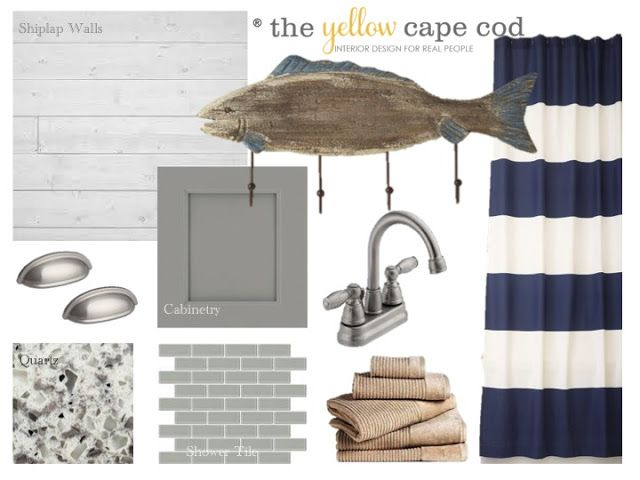 The Yellow Cape Cod: The Bathroom in Family Lake Cottage Design Plan