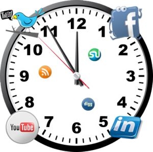 Schedule your content marketing campaign according to social media clock