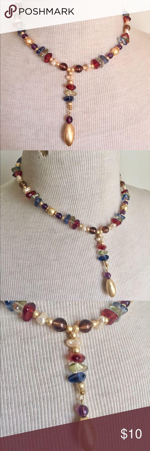 Liz Claiborne Beaded Y Necklace Great condition Liz Claiborne Jewelry Necklaces