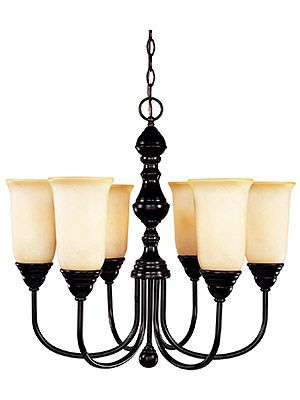 Chandelier With Marble Shades