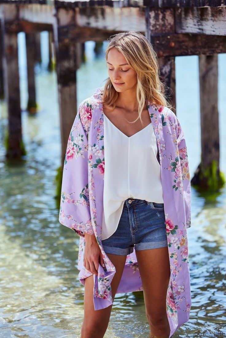 2c83a0fe18d3 Orchis Resort Short Cotton Kimono in 2019