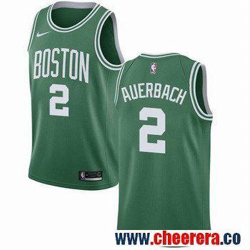 Men's Nike Boston Celtics #2 Red Auerbach Green NBA Swingman Icon Edition Jersey