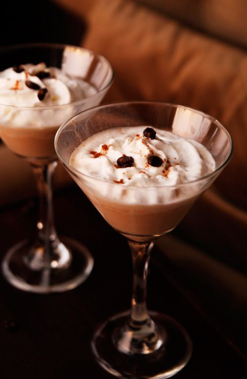 Mudslide Cocktail. 1 oz. vodka, 1 oz. Kahlua, 1 oz. Bailey's Irish Cream, 1 oz. half and half.  Blend with ice or serve on the rocks.  Garnish with whip cream and a pinch of cinnamon or chocolate syrup